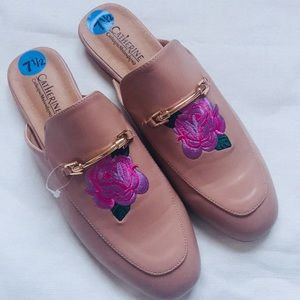 "7 1/2 Catherine Malandrino ""Pika"" Clog Cream/Pink"